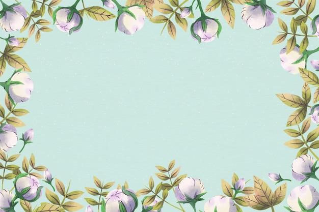 Pusta Przestrzeń Kopii Tle Kwiatów Premium Wektorów