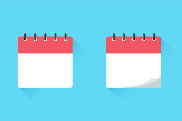 Pusta Replika Kalendarza. Na Spotkania I Ważne Daty W Roku. Premium Wektorów