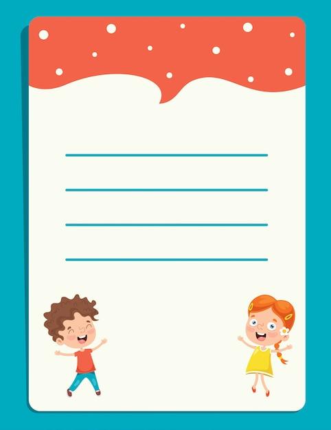 Puste Dokumenty Informacyjne Dla Edukacji Dzieci Premium Wektorów