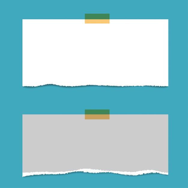 Puste kwadraty strony notatnika i pin. papier notowany z czerwoną pinezką. Premium Wektorów