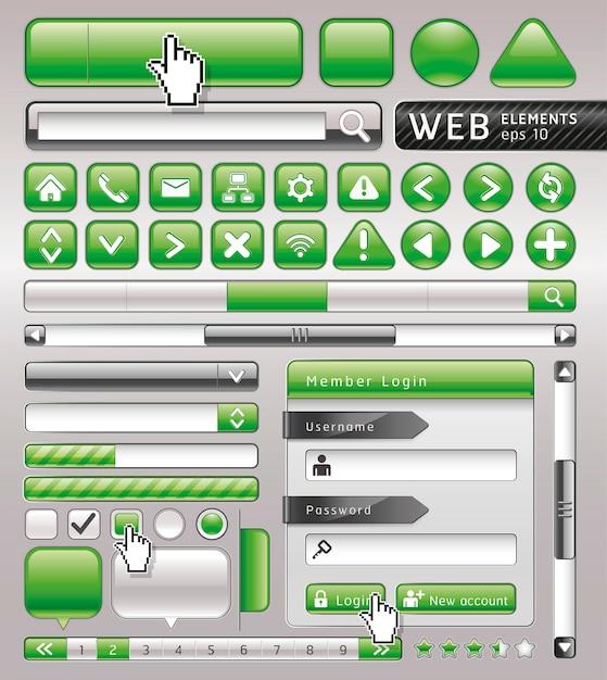Puste przyciski na stronie internetowej i aplikacji. Premium Wektorów