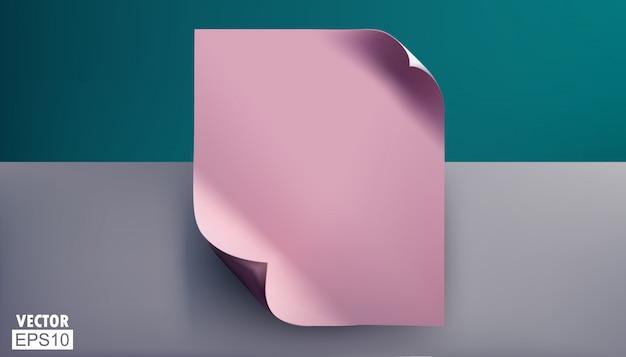 Puste różowe prześcieradła ze złożonymi narożnikami. Premium Wektorów