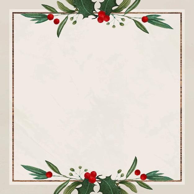 Puste świąteczne Kwadratowe Tło Boże Narodzenie Darmowych Wektorów