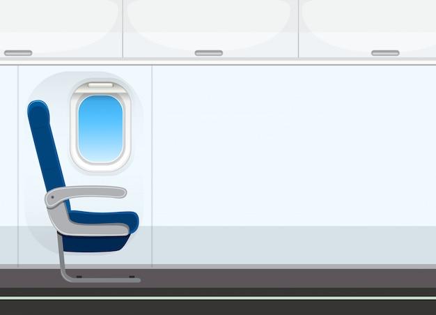 Pusty kabiny samolotu tło Premium Wektorów