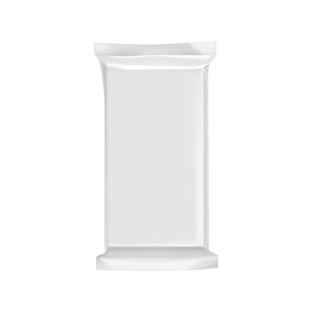 Pusty pakuje szablon odizolowywający na bielu. Premium Wektorów