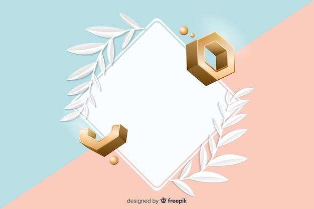 Pusty Transparent Z Geometrycznych Kształtów W Efekcie 3d Darmowych Wektorów