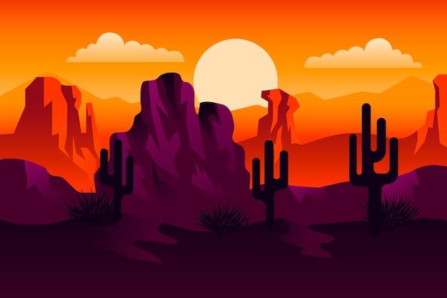 Pustynny Krajobraz - Tło Do Wideokonferencji Darmowych Wektorów