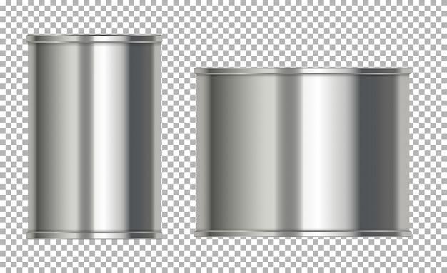 Puszki Aluminiowe Bez Etykiety Premium Wektorów