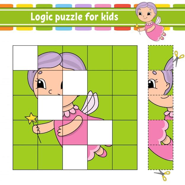Puzzle dla dzieci. Premium Wektorów