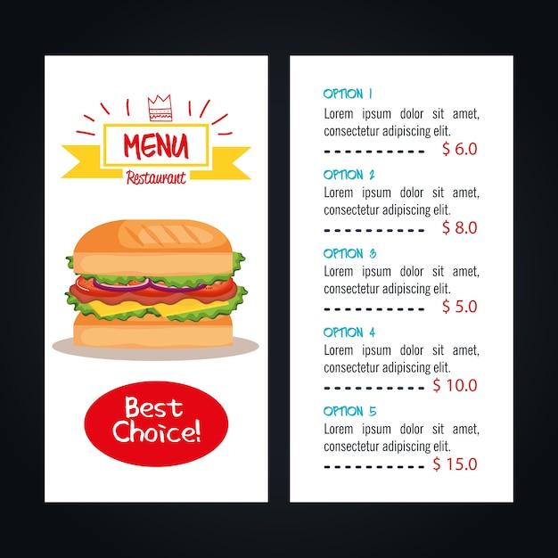 duże menu
