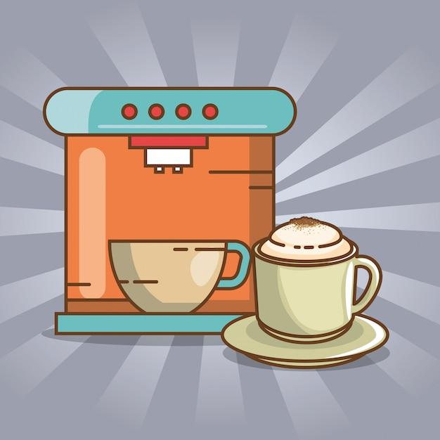 Pyszne Elementy Czasu Kawy Darmowych Wektorów