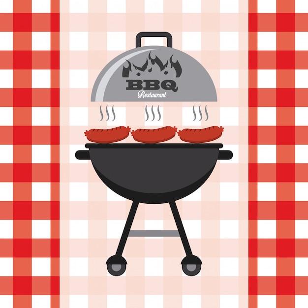 Pyszny grill Premium Wektorów
