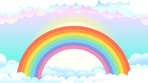 Rainbow W świecie Fantasy Premium Wektorów