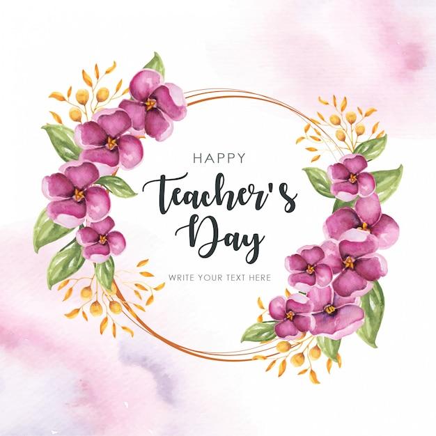 Rama szczęśliwych nauczycieli Premium Wektorów