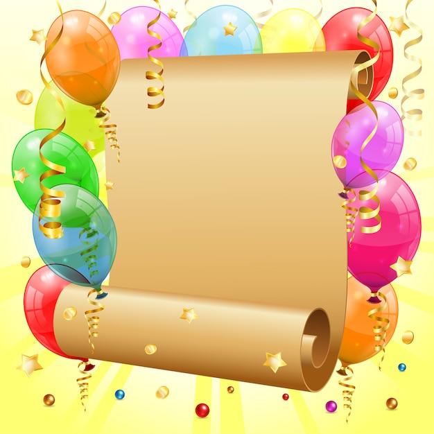 Rama Urodzinowa Premium Wektorów