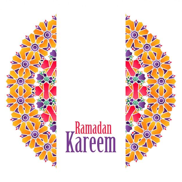 Ramadan kareem islamski wzór tła Darmowych Wektorów