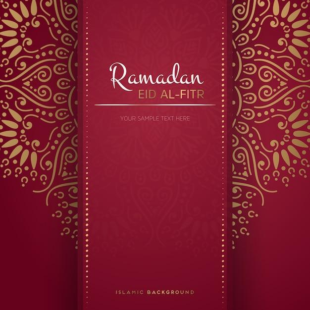Ramadan kareem pozdrowienia projekt karty z mandali Darmowych Wektorów