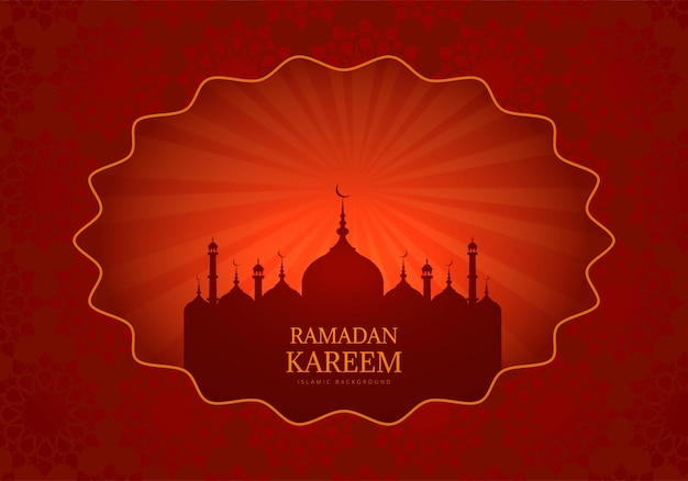 Ramadan Kareem Tło Z życzeniami Darmowych Wektorów
