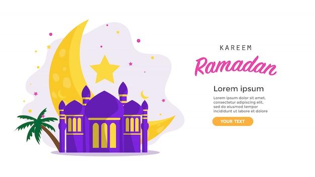 Ramadan Kareem Tło Premium Wektorów