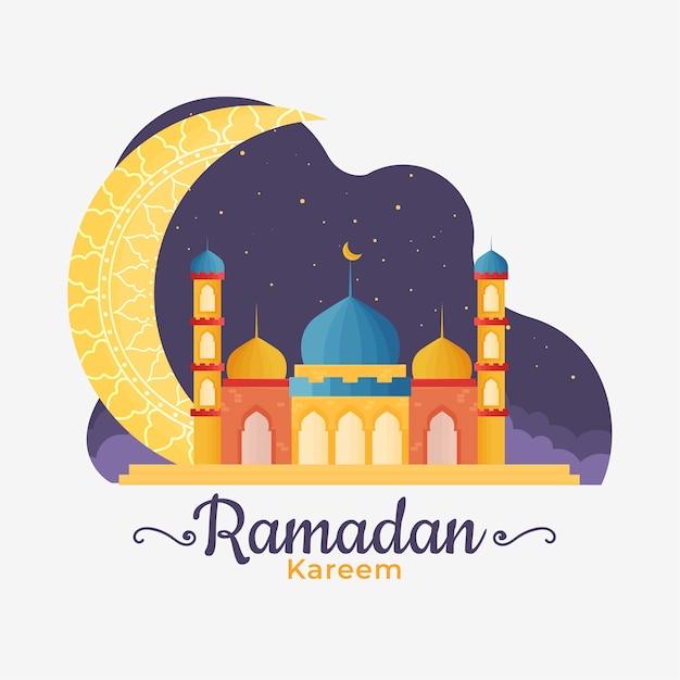 Ramadan W Płaskiej Konstrukcji Darmowych Wektorów