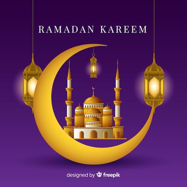 Ramadan w tle Darmowych Wektorów