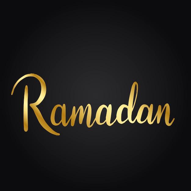 Ramadan wakacje styl typografii wektor Darmowych Wektorów