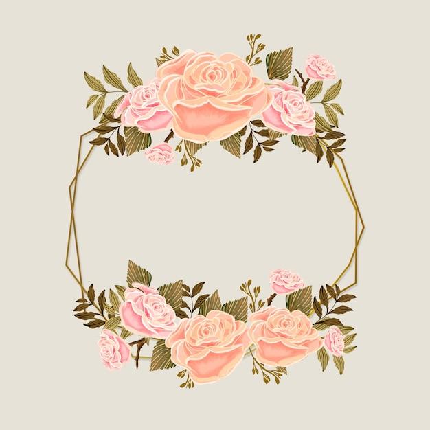 Ramka Sezonu Wiosennego Z Różowymi Różami Darmowych Wektorów