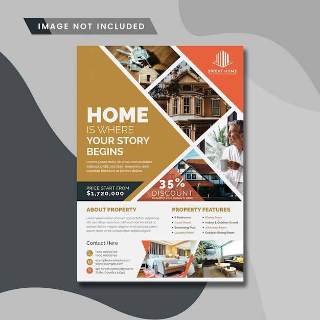 Real Estate Creative Flyer Premium Wektorów