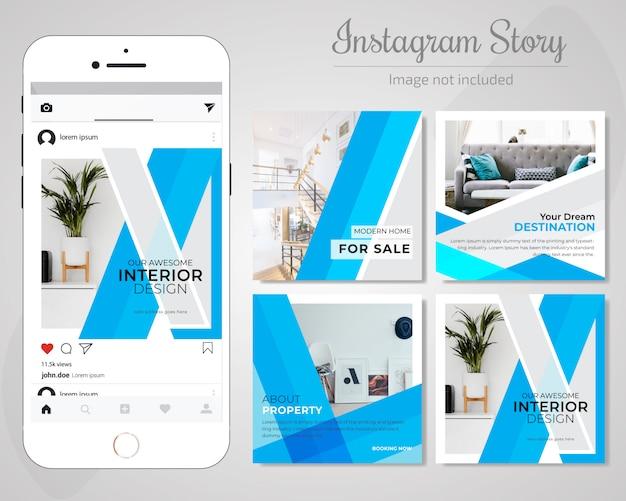 Real estate social media post template Premium Wektorów