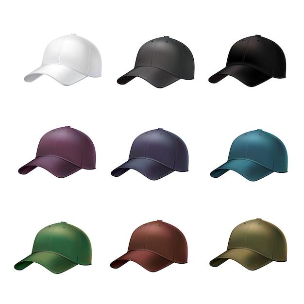 Realistyczna czapka z daszkiem Darmowych Wektorów