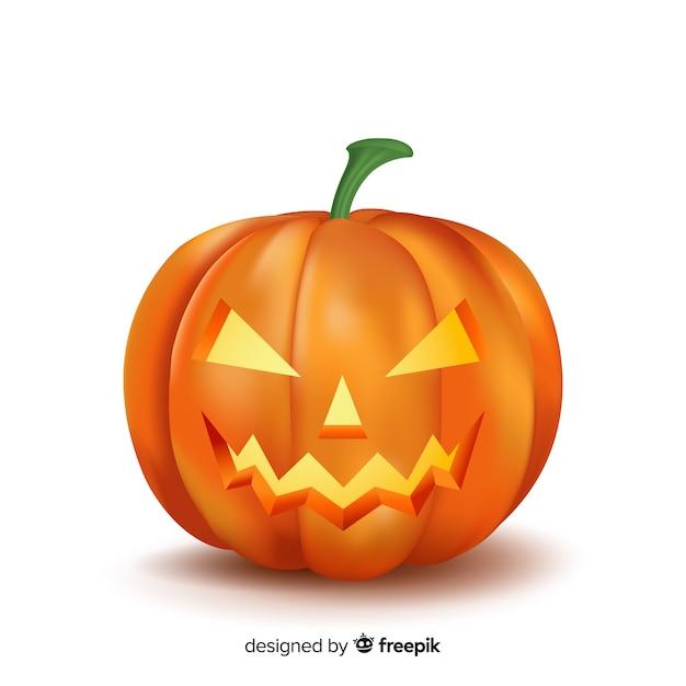 Realistyczna dynia halloweenowa Darmowych Wektorów