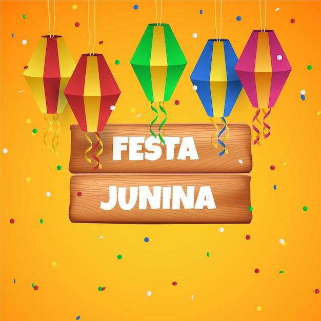 Realistyczna Festa Junina I Latawce Darmowych Wektorów