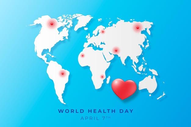 Realistyczna Ilustracja światowego Dnia Zdrowia Darmowych Wektorów