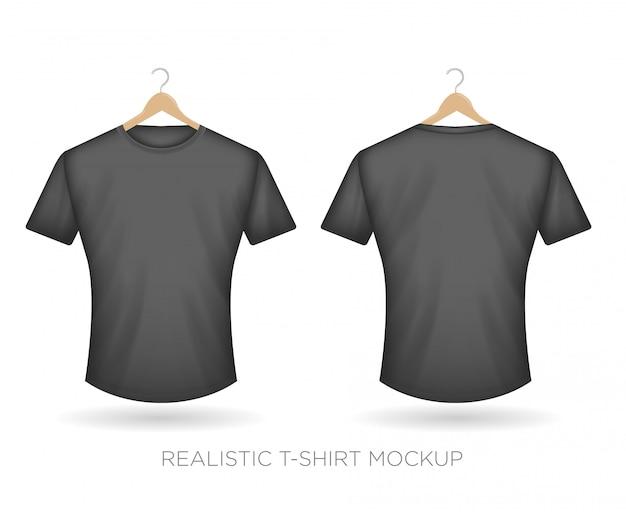 Realistyczna koszulka szara Premium Wektorów