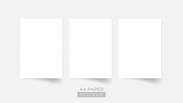 Realistyczna makieta ulotki papieru 3d Premium Wektorów