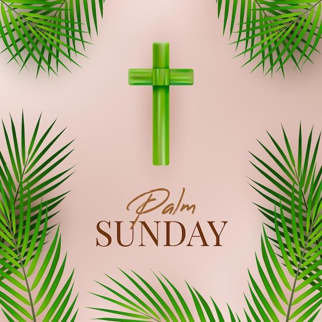 Realistyczna Niedziela Palmowa Ilustracja Darmowych Wektorów