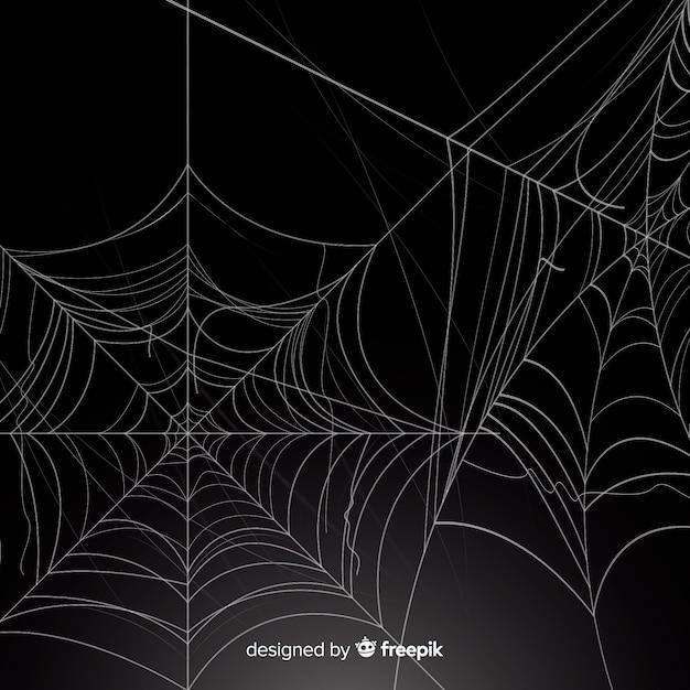 Realistyczna pajęczyna z gradientem Darmowych Wektorów