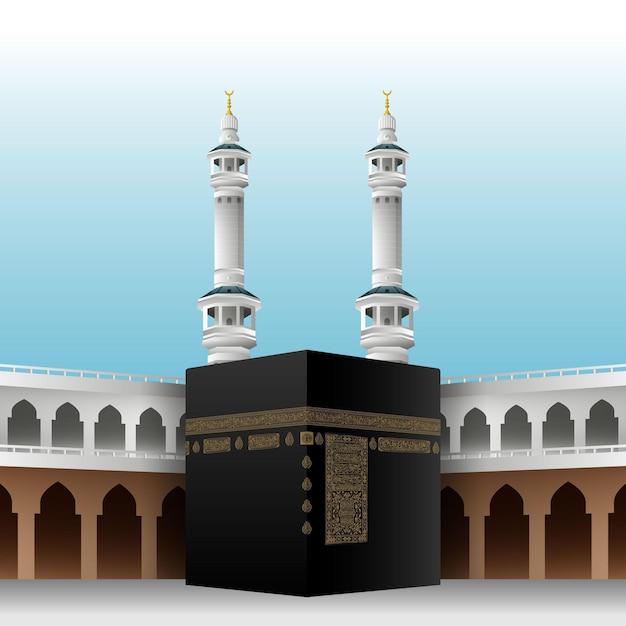 Realistyczna Pielgrzymka Islamska Darmowych Wektorów
