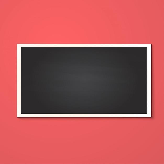 Realistyczna Prostokątna Ramka Na Zdjęcia Na Białym Tle Premium Wektorów