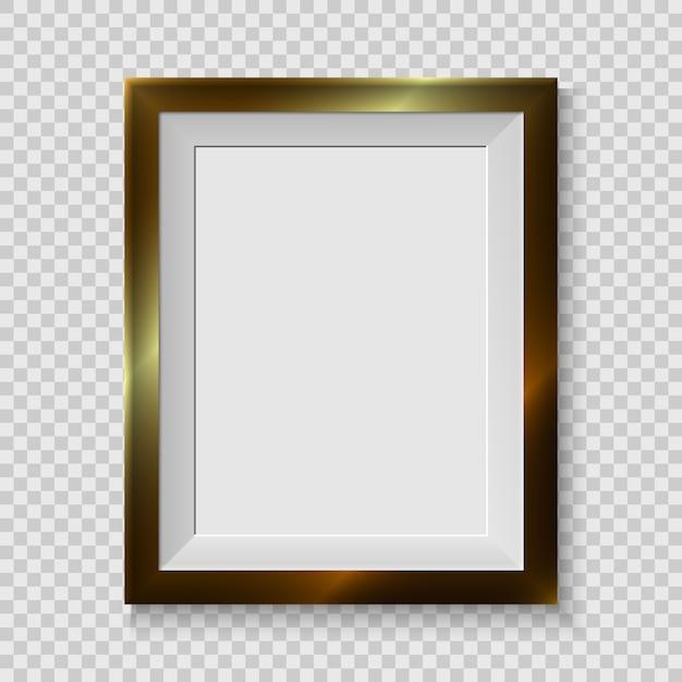 Realistyczna ramka na zdjęcia na białym tle Premium Wektorów