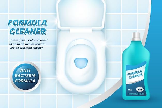 Realistyczna Reklama Produktów Czyszczących Darmowych Wektorów