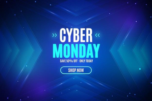 Realistyczna Technologia W Cyber Poniedziałek Darmowych Wektorów