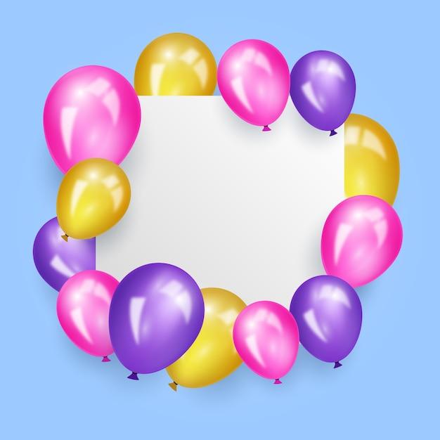 Realistyczne Balony Z Pustym Hasłem Darmowych Wektorów