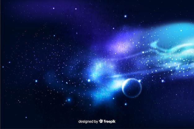 Realistyczne ciemne tło streszczenie galaktyki Darmowych Wektorów