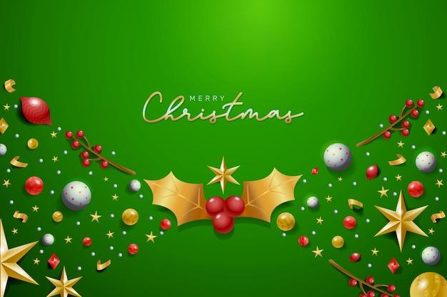 Realistyczne dekoracje świąteczne tło Darmowych Wektorów