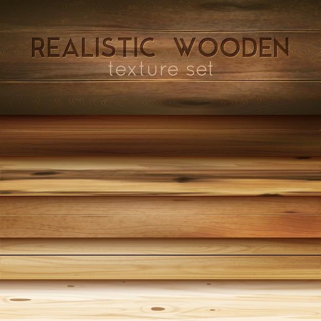 Realistyczne Drewniane Tekstury Darmowych Wektorów