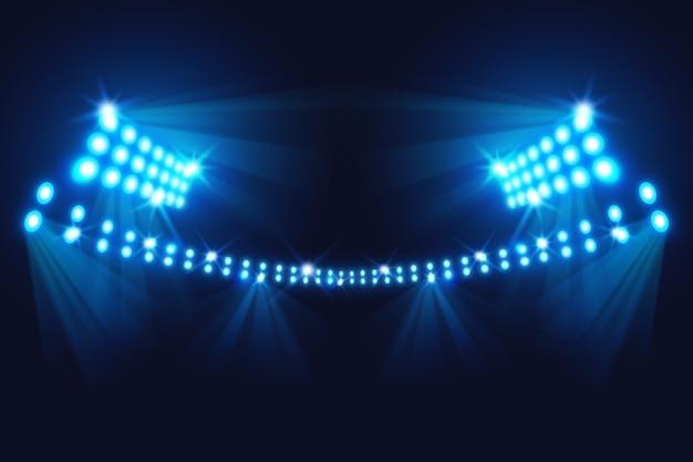 Realistyczne Jasne światła Stadionowe Darmowych Wektorów