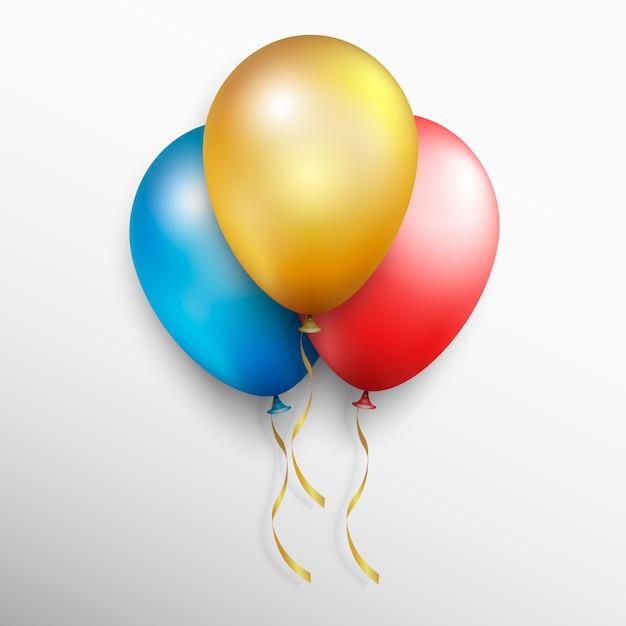 Realistyczne Kolorowe Balony Wektorowe Premium Wektorów