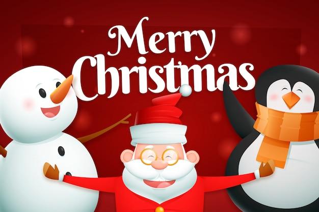 Realistyczne Kreskówkowe Postacie świąteczne Darmowych Wektorów