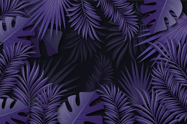 Realistyczne Liście Tropikalne Tło Darmowych Wektorów